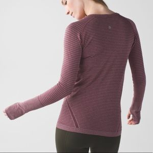 lululemon athletica Tops - Lululemon Swiftly Tech Long Sleeve Crew Bordeaux 4